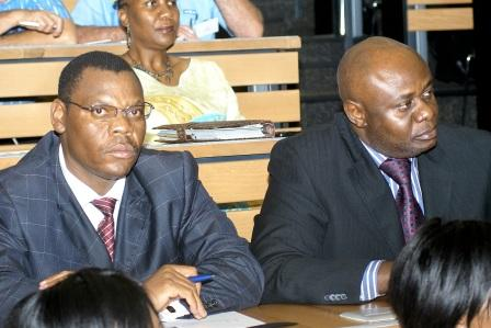 Rickson Mboweni and Dr Nkongolo - Board Members